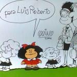 Autógrafo de Quino para Luís Roberto Amabile