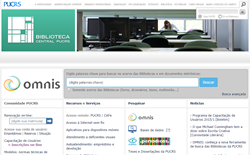 Tela do website da Biblioteca Central da PUCRS