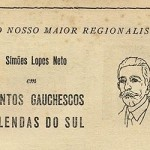 Recorte de um anúncio da Livraria do Globo na revista Província de São Pedro