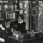 James Joyce, Sylvia Beach e Adrienne Monnier na livraria Shakespeare and Company
