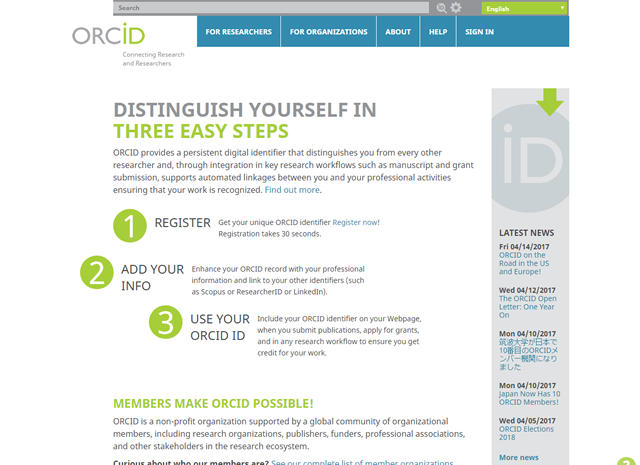 ORCID (Open Researcher and Contributor ID)