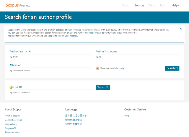 Scopus Author ID