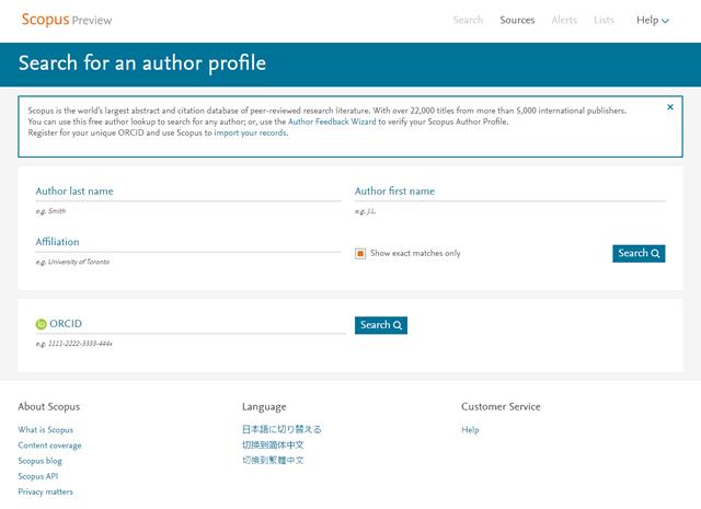 Scopus Author ID